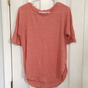 Lou & Grey Half Sleeve Shirttail Linen Tee - M